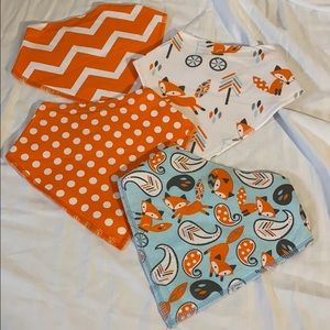 Bandanna Baby Bibs Four per package